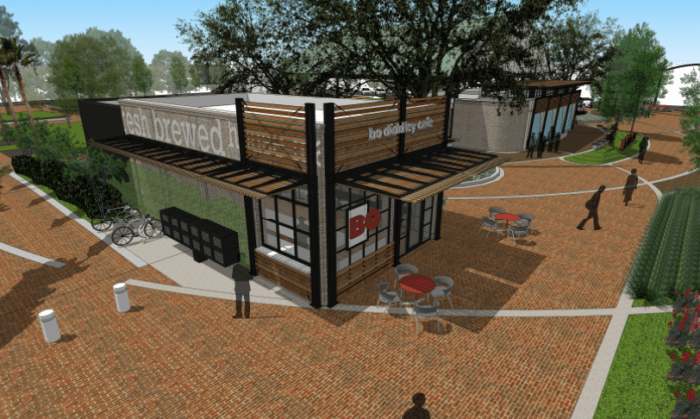 City adds inviting touches to Bo Diddley Plaza