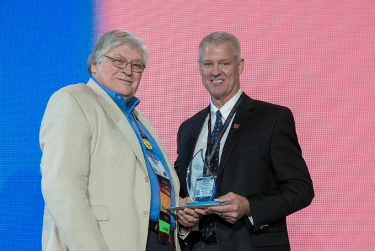 Edward Crapo receives Lifetime Achievement Award from International Association of Assessing Officers