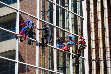 Superheroes descend on UF Health Shands Children's Hospital