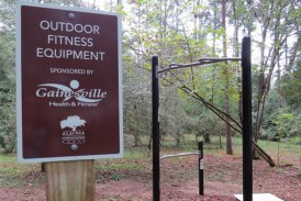 Alachua Conservation Trust and Gainesville Health & Fitness Dedicate New Outdoor Fitness Equipment