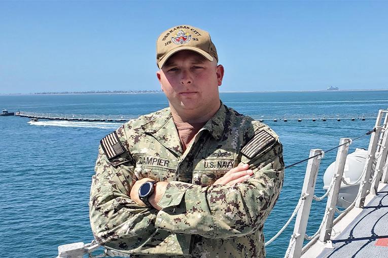 Gainesville Native serves aboard future U.S. Navy warship