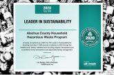 Alachua County Earns Sustainability Award