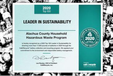 Alachua County Earns Sustainability Award